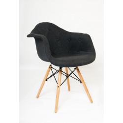 Кресло Onder Mebli Леон Софт Вискоза Антрацит К-8