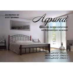 Кровать Афина на деревянных ножках Металл-Дизайн