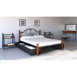 Кровать Анжелика на деревянных ножках Металл-Дизайн