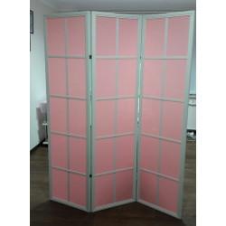 Ширма 10Х 3 секции 180х144 см Белый/Розовый