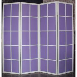 Ширма Кантри 100-4S Белый/Фиолет