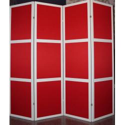 Ширма Кантри 300-4S Белый/Красный