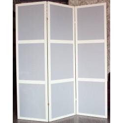 Ширма Кантри 300-3S Белый/Серый