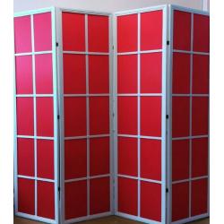 Ширма Кантри 100-4S Белый/Красный