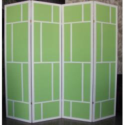 Ширма Кантри 400-4S Белый/Зеленый