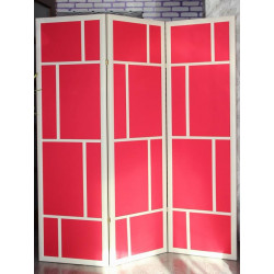 Ширма Кантри 400-3S Белый/Красный