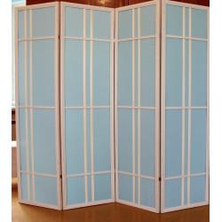 Ширма Кантри 600-4S Белый/Голубой