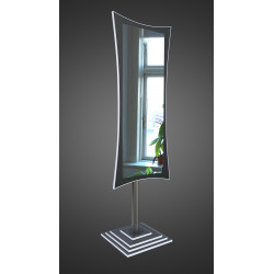 Зеркало напольное на основе ЛДСП Art-com N2 Черно-белый