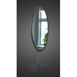 Зеркало напольное на основе ЛДСП Art-com N1 Черный