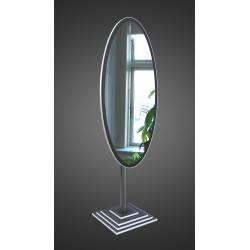 Зеркало напольное на основе ЛДСП Art-com N1 Черно-белый