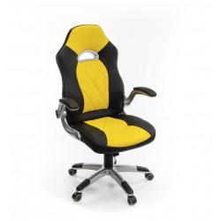 Кресло Форсаж-8 PL GTR TILT черно-желтый А-класс