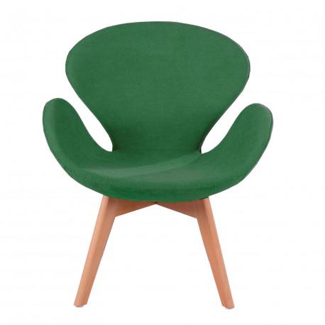 Кресло Сван Вуд Армз зеленый Группа СДМ