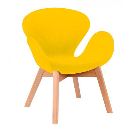 Кресло Сван Вуд Армз желтый Группа СДМ