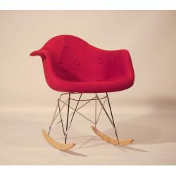 Кресло-качалка Onder Mebli Леон Soft Rack Вискоза Красный К-9