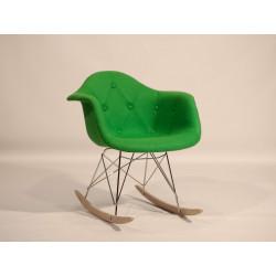 Кресло-качалка Onder Mebli Леон Soft Rack Шерсть Зеленый W-17