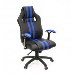 Кресло Гурон PL SR чёрно-синий А-класс
