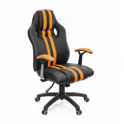 Кресло Гурон PL SR чёрно-оранжевый А-класс