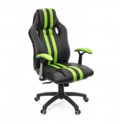 Кресло Гурон PL SR чёрно-зеленый А-класс