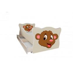 Кровать с ящиком Viorina-Deko Animal 3 Медвежонок Крем