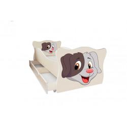 Кровать с ящиком Viorina-Deko Animal 5 Собачка Крем