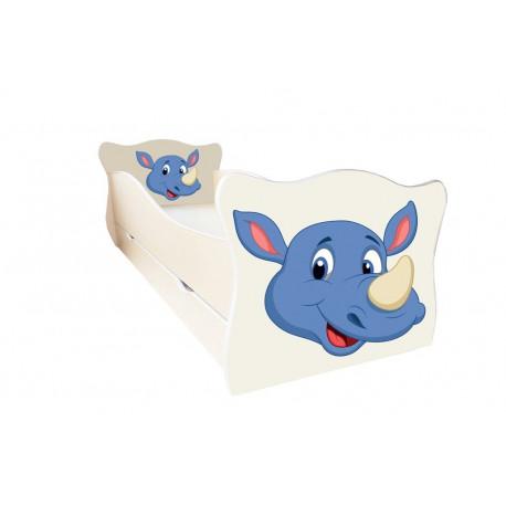 Кровать с ящиком Viorina-Deko Animal 6 Носорог Крем