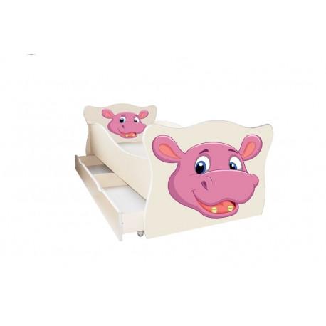 Кровать с ящиком Viorina-Deko Animal 8 Бегемотик