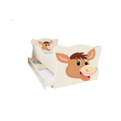 Кровать с ящиком Viorina-Deko Animal 15 Ослик