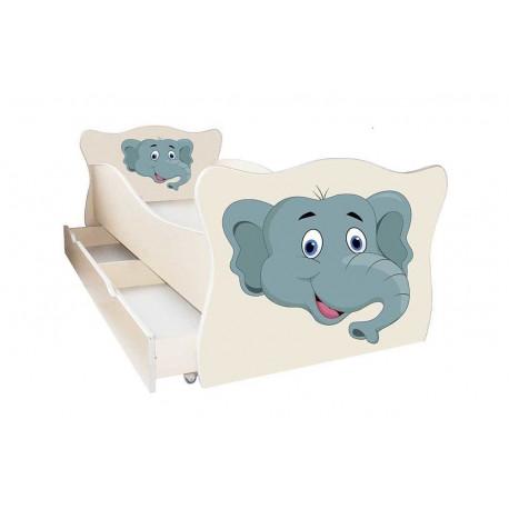 Кровать с ящиком Viorina-Deko Animal 13 Слон