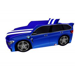 Кровать с подъемным механизмом+матрас Viorina-Deko Premium BMW Синий