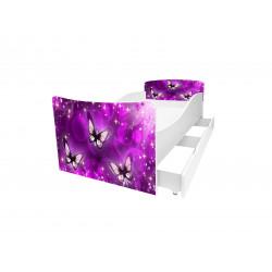 Кровать с ящиком Viorina-Deko Kinder 24 Бабочки