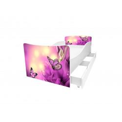 Кровать с ящиком Viorina-Deko Kinder 26 Бабочки 2