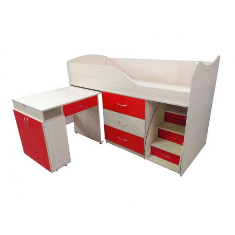 Кровать-комната №5 Viorina-Deko Красный