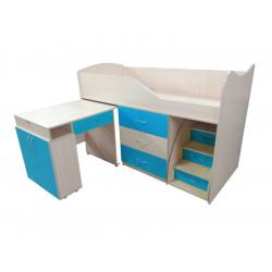 Кровать-комната №5 со столом Viorina-Deko Морская волна