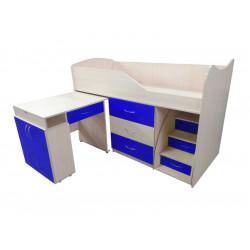 Кровать-комната №5 со столом Viorina-Deko Синий