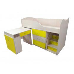 Кровать-комната №5 со столом Viorina-Deko Желтый