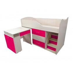 Кровать-комната №5 со столом Viorina-Deko Малиновый