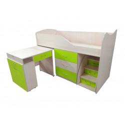 Кровать-комната №5 со столом Viorina-Deko Лайм