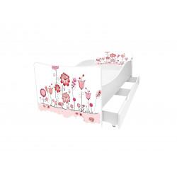 Кровать с ящиком Viorina-Deko Kinder 49 Цветы