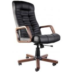 Крісло комп'ютерне з дерев'яними підлокітниками Атлант (Atlant) extra Новий Стиль