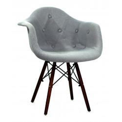 Кресло Onder Mebli Леон Софт W Шерсть Серый W-16