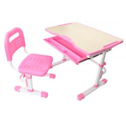 Комплект парта и стул-трансформер Vivo Pink FunDesk