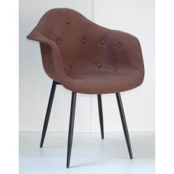 Кресло Onder Mebli Леон Софт Металл BK Вискоза Коричневый К-10