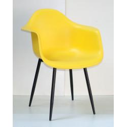 Кресло Onder Mebli Леон Металл BK Желтый 12