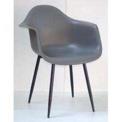 Кресло Onder Mebli Леон Металл BK Серый 21