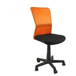 Кресло Belice Black/Orange Special4You Technostyle
