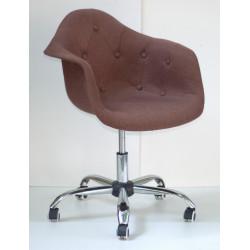Кресло Onder Mebli Леон Софт Офис Вискоза Коричневый К-10