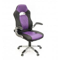 Кресло Форсаж-8 PL GTR TILT черно-фиолетовый А-класс