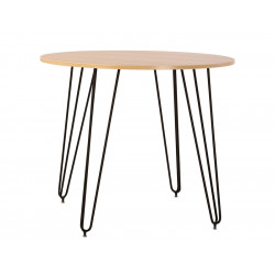 Стол круглый Aller Black H18 D900 Новый Стиль