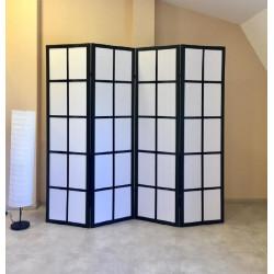 Ширма Кантри 100-4S Черный/Белый