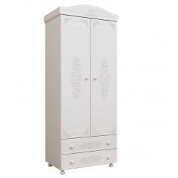 Шкаф для одежды АС-02 белый Ассоль Санти Мебель